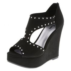 NWOT black studies wedge heels Never worn black studded wedge heels Shoes Wedges