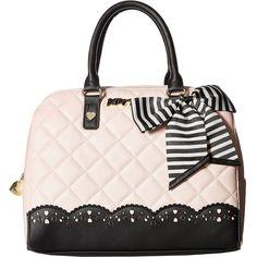 Betsey Johnson Diamond Quilt Lazer (Blush) Handbags (72 AUD) ❤ liked on Polyvore featuring bags, handbags, pink, faux leather handbags, betsey johnson, vegan hand bags, betsey johnson handbags and man bag