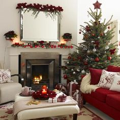 love the tree and mantle.
