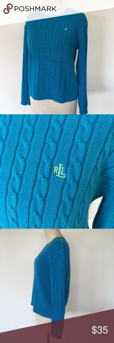 Spotted while shopping on Poshmark: RALPH LAUREN ~ blue cable knit crew neck sweater! Sweaters For Women, Men Sweater, Green Logo, Cable Knit Sweaters, Plus Fashion, Fashion Trends, Crew Neck, Ralph Lauren, China