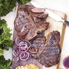Spice Rubbed T-Bone Steak: Big, thick steaks need a lot of seasoning, so be sure to cover them liberally with salt, pepper and any rub before grilling.