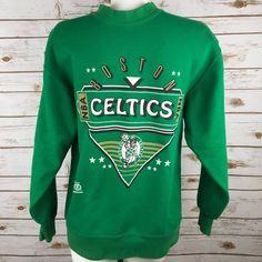 Vintage Boston Celtics Sweatshirt NBA 50-50 Green Home Team Advantage NBAP Med    eBay