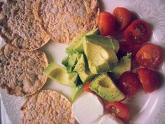 Advocado, tomato and goats cheese on Rude Health Multigrain thins