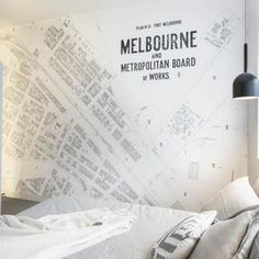 Vintage Port Melbourne Map Wallpaper Melbourne Map, Print Wallpaper, Custom Wall, Vintage Maps, Adhesive Vinyl, Wall Prints, Digital Prints, How To Apply, Cards Against Humanity