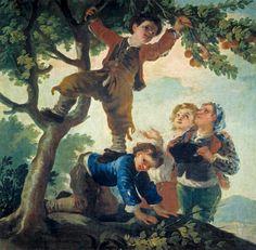 Francisco de Goya, Muchachos cogiendo fruta, 1778