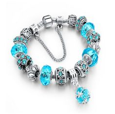 Boscoreale - Crystal Murano Beads Charm Bracelet