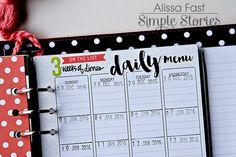 My 2016 SN@P! Planner   Simple Stories Carpe Diem