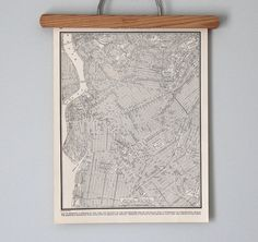 Antique City Map of 1930s Brooklyn New York City by reclaimer, $16.00