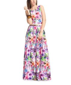 Loving this Lilac Rainbow Garden Belted Maxi Dress on #zulily! #zulilyfinds