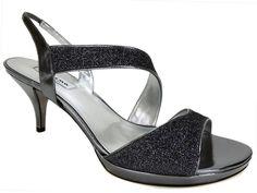 Nina Women's Newark Evening Sandals Gunmetal Bliss Dark Silver Size 11 M #Nina #Slingbacks #Dress