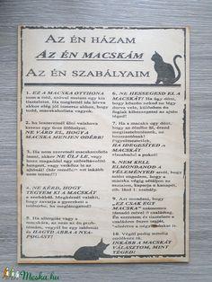 Az én macskám... (ranyomlak) - Meska.hu Techno, Decoupage, Bullet Journal, Cover, Books, Diy, Libros, Bricolage, Book