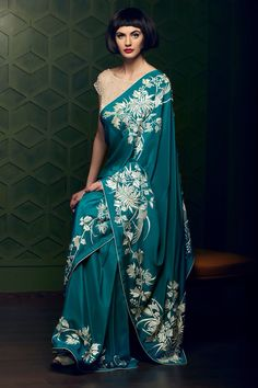 ASHDEEN - Parsi Gara Embroidery, Hand embroidery, Made in India, Crafts of India, Saris of India Embroidery Saree, Hand Embroidery, Indian Embroidery, Indian Attire, Indian Wear, Indian Dresses, Indian Outfits, Look Short, Stylish Sarees