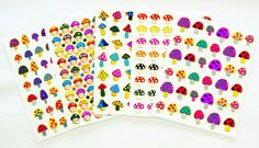 Fancy! Mix! Mushrooms No.1, Sparkle Sticker-5 Sheet *** Startling review available here  : Valentine Gifts