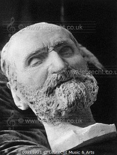 Giuseppe Verdi 's death mask - from sculpture by Emilio Quadrelli. Mask made from gesso. Italian composer, 9 or 10 October 1813 - 27 January