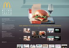 McDonald's - The Blind Taste on Behance Creative Poster Design, Ads Creative, Creative Posters, Advertising Awards, Clever Advertising, Concept Board, Ad Design, Design Ideas, Photoshop