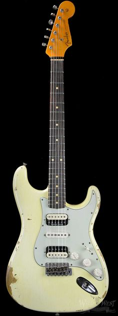Fender Custom Shop 1959 Stratocaster Heavy Relic HSH Vintage White - Wild West Guitars