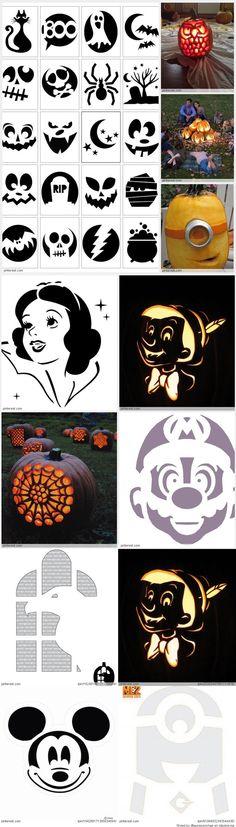 Pumpkin Carving Patterns Halloween Templates, Halloween Projects, Halloween Pumpkins, Halloween Ideas, Halloween Party, Halloween Stuff, Holidays Halloween, Halloween Crafts, Holiday Crafts