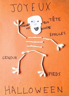 DIY French Halloween craft. Review the body parts!    Sweet Petite Comptine Blog