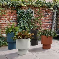 Fluted Planter, Terracotta, Extra Extra Small Modern Planters, Wood Planters, Indoor Planters, Ceramic Planters, Indoor Outdoor Rugs, Garden Planters, Outdoor Gardens, Planter Pots, Basket Planters