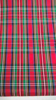 red tartan taffeta red plaid fabric christmas fabric by the half yard by the yard evening wear formal special occasion bridal wear - Christmas Plaid Fabric