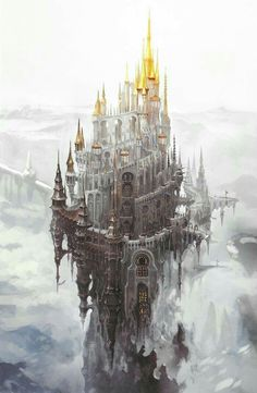 New Final Fantasy Landscape Castles Ideas Fantasy City, Fantasy Castle, Fantasy Places, Final Fantasy Xiv, Fantasy Kunst, High Fantasy, Medieval Fantasy, Fantasy World, Final Fantasy Artwork