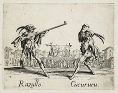 Razullo and Cucurucu, from Balli di Sfessania (c.1622)