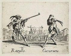 Razullo and Cucurucu, from Balli di Sfessania (c.1622)