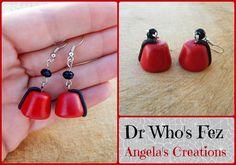 Dr Who Dangle Earrings