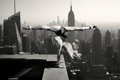 #blonde #girl #acrobat #blackandwhite #strength #balance #legs #barefoot #sexy #beauty #newyork #nyc #usa #skyline #sky #building #roof #longhair #hands by romeo__spain