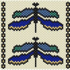 Dragonfly Beading Pattern BIC Lighter Cover Miyuki Delica Beads Peyote Stitch by KWynnJewelry on Etsy
