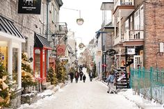 Old Quebec, Quebec City! My heart belongs to places like this.