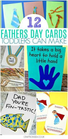 fathers day cards toddlers can make - easy DIY ideas #fathersday #fathersdaycrafts #toddler #preschool