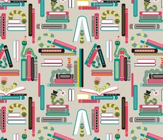 Bookworms fabric by brendazapotosky on Spoonflower - custom fabric