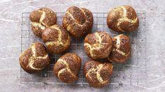 Onion pretzels recipe - BBC Food Nadiya Hussain Recipes, Pretzel Rolls, Sandwich Fillings, Good Food, Yummy Food, Tasty, Recipe For 4, Bread Baking, Breads