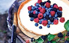 This gorgeous fresh berry panna cotta pie is the ultimate summer dessert and   quite the showstopper