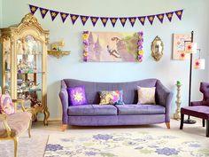 Disney Themed Bedrooms, Bedroom Themes, Bedroom Decor, Home Themes, Themed Rooms, Tangled Room, Rapunzel Room, Cinderella Bedroom, Casa Disney