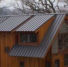 Roofs 101 - Bob Vila Metal Roofs- East Texas: Contact us if you want an A+ roofing company!Metal Roofs- East Texas: Contact us if you want an A+ roofing company! Metal Roof Houses, Metal Buildings, Barn Houses, Wood Siding, Exterior Siding, Vinyl Siding, House Siding, House Roof, Metal Roof Installation