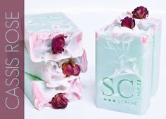 I looove this soap! Cassis Rose and Moringa Cold Process Soap.