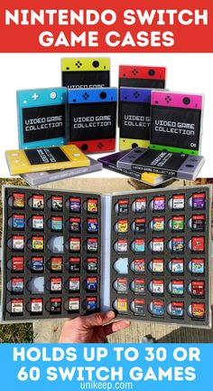 UniKeep Nintendo Switch Game Cases are the best Nintendo Switch Accessories to complete your collection. Available in multiple color choices - including the new Nintendo Switch Animal Crossing: New Horizons design - you can match the case to your console! Holds up to 30 or 60 Nintendo Switch cartridges. Video Game Organization, Video Game Storage, Nintendo Switch Animal Crossing, Nintendo Switch Accessories, Video Game Collection, Nintendo Switch Games, Packaging Solutions, Gaming Setup, Creative Gifts