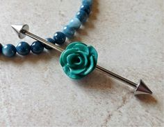 Hey, I found this really awesome Etsy listing at https://www.etsy.com/listing/185821997/industrial-barbell-with-green-rose-body