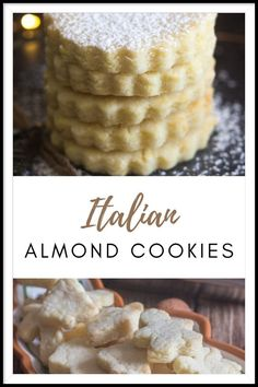 Italians love two things in their sweets, lemons and almonds. And a dusting of icing sugar doesn't hurt either.This year I decided to share one of the Italian's favourite Christmas Cookies, Almond Cookies, plain and simple.