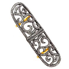 Natural 3.4ct Diamond Pave 925 Silver Armor Knuckle Ring 14k Gold Hinged Jewelry #Handmade #Hinged