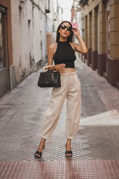 Mode Outfits, New Outfits, Spring Outfits, Fashion Outfits, Womens Fashion, Slouchy Outfit, Slouchy Pants, Zara Fashion, Look Fashion