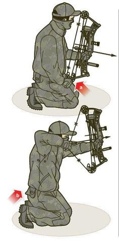 How To Shoot A Bow While Kneeling //