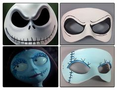 Nightmare Before Christmas masquerade masks by maskedzone on ...