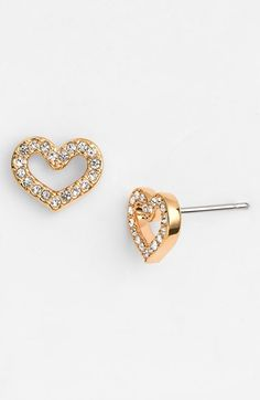 sweet pave heart stud earrings http://rstyle.me/n/wbd2vr9te