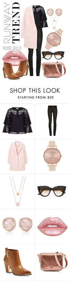 """Covered in Rose Gold"" by niconi ❤ liked on Polyvore featuring Temperley London, ElleSD, MANGO, Olivia Burton, Michael Kors, E L L E R Y, Monica Vinader, Lime Crime, Vince Camuto and Alexander Wang"