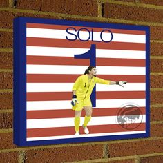 Square Canvas Wrap Soccer Art Print Hope Solo 1 Canvas Print - USWNT - United states World Cup Squad Soccer Poster wall decor, home decor #soccer #wallart #decor #canvas #art #poster #graphicdesign #soccerart #football #futbol #etsy #g17 #graphics17 #etsy