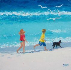 Sunshine and Summertime  My paintings of the beach will bring back those halcyon days of childhood summer holidays.