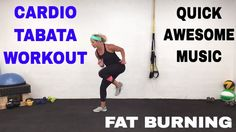 Fat Burning Cardio Tabata Workout, HIIT, Pure Cardio Quickie Workout